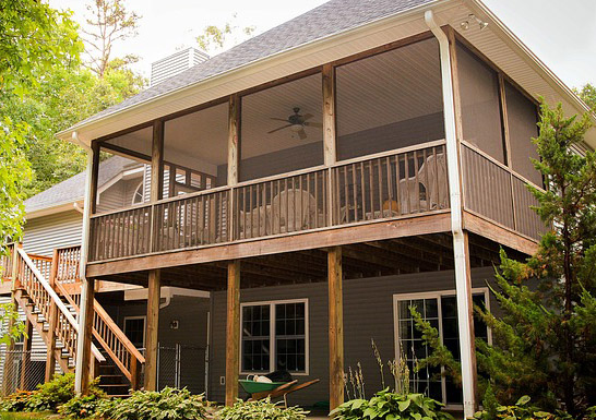 screened porch versus professional mosquito control