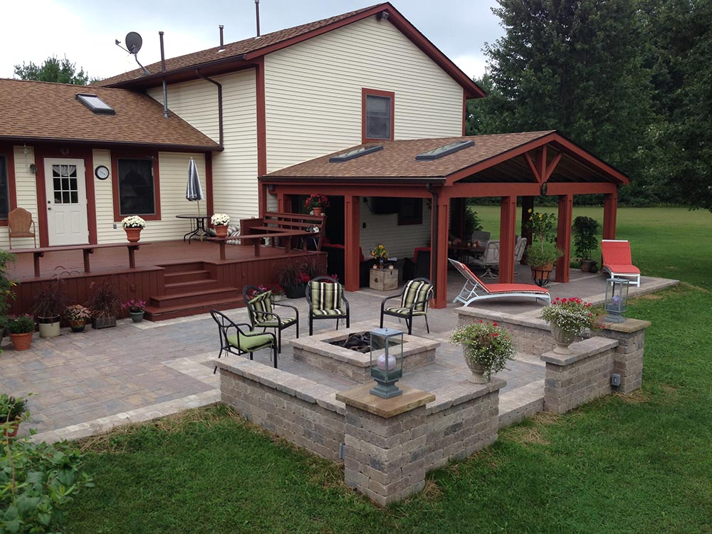 Deck and covered patio