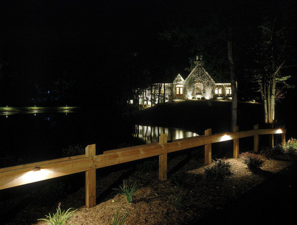 exterior home lighting provides security