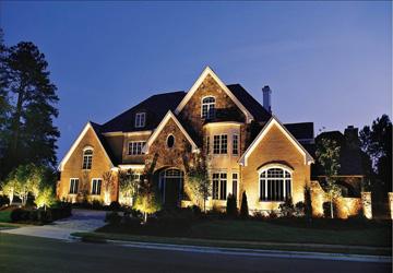 home facade lighting Raleigh NC