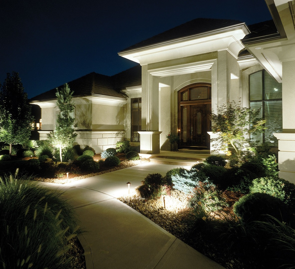 Beautiful The Philosophy Behind Our Custom Outdoor Lighting Designs Is The Core Idea  Of Focusing On The Effect, Not The Fixture. This Means Your Homeu0027s  Architecture, ...