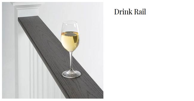 TimberTech Drink Rail deck railing