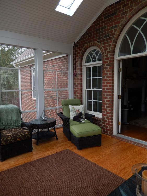Greensboro screened porch