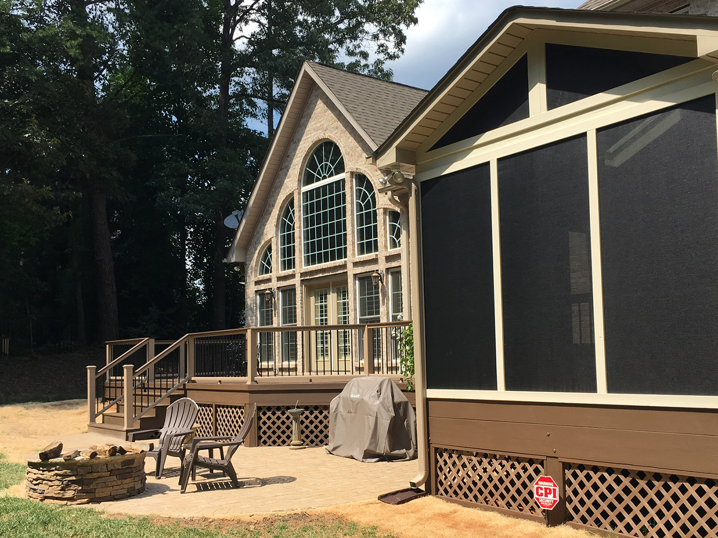 Incroyable Trex Low Maintenance Deck, Screened Porch, Patio And Fire Pit In Eppington  South