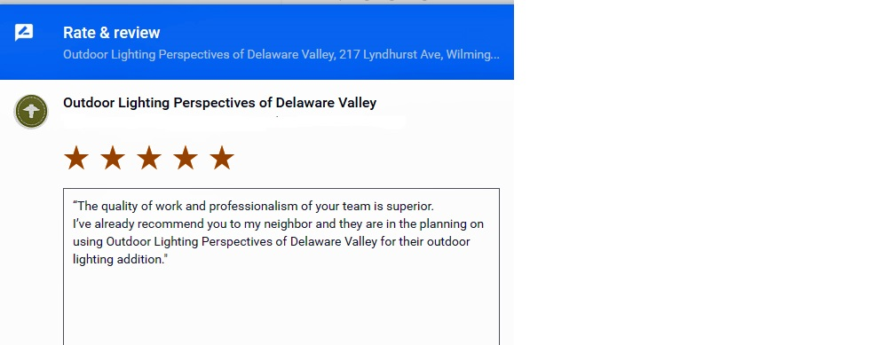 Reviews for Outdoor Lighting Perspectives of Delaware Valley, Google