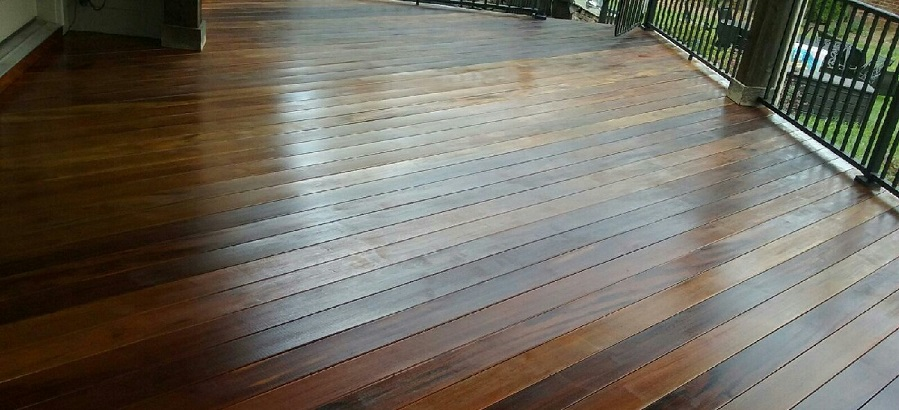Ipe wood deck staining Lake Norman NC