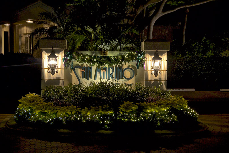 woodlands lights for neighborhood signs