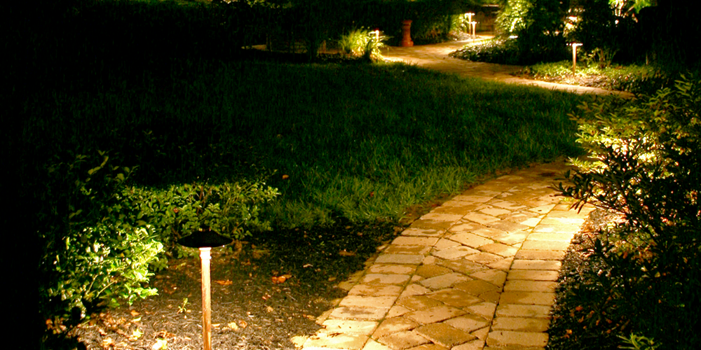 landscape lighting installation Raleigh NC