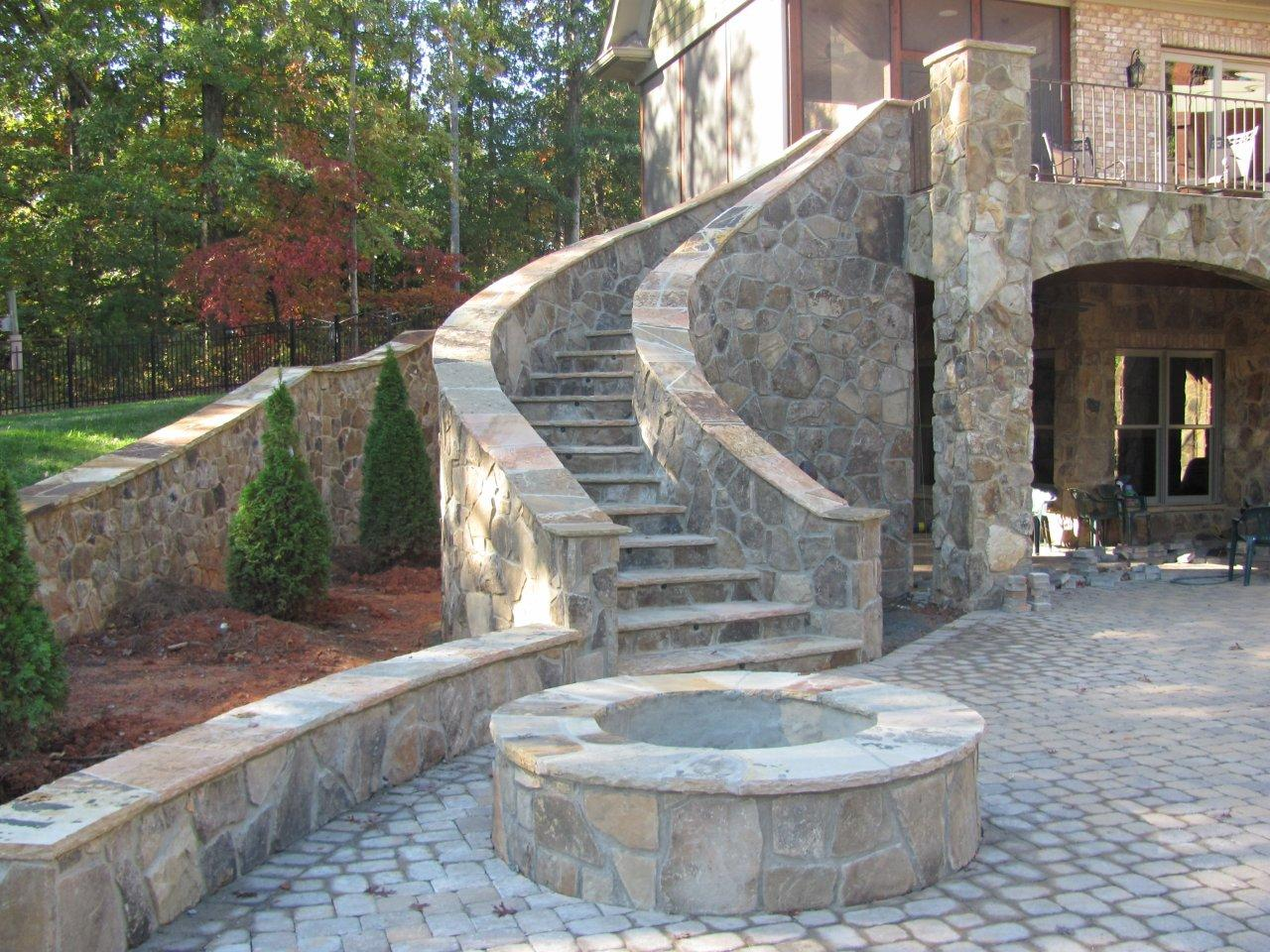 Charlotte fire pit on patio