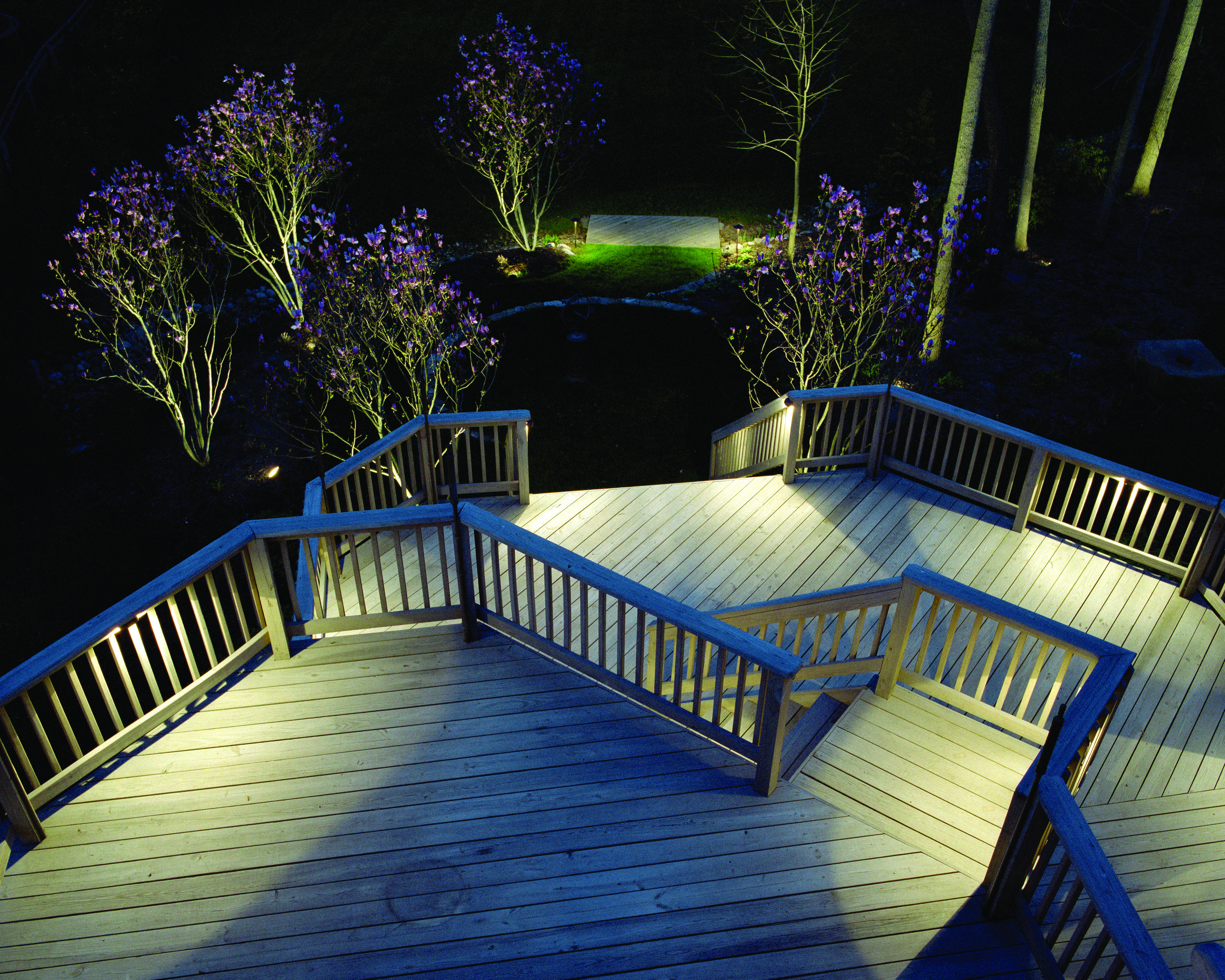 deck lighting installation Bexley Ohio