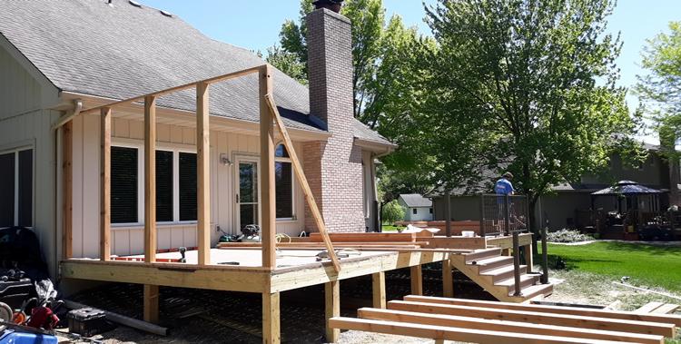 TimberTech deck build