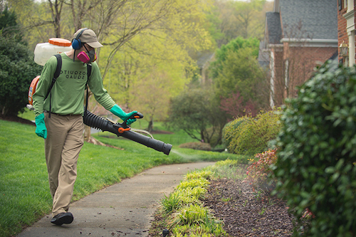 We Apply Our Time Released, EPA Registerd Barrier Treatment To The  Perimeter Of Your Yard And Progress Inward With Our Specially Developed,  Time Released ...