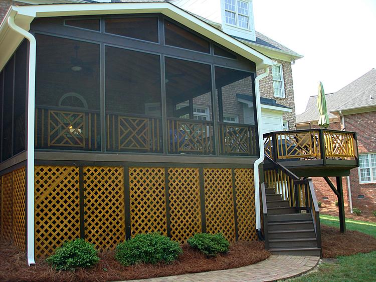 Greensboro screened porch and deck