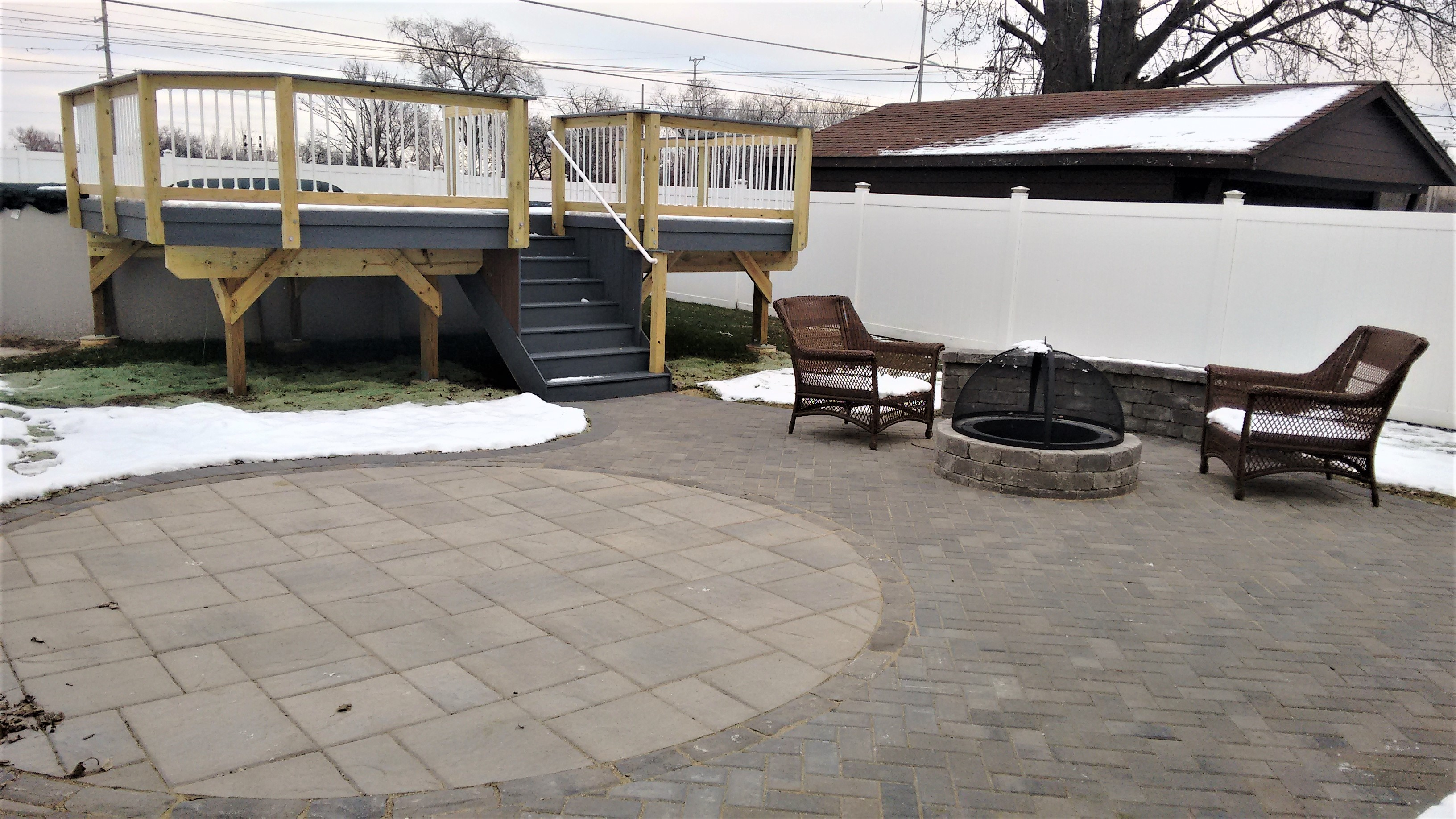 Timber Tech Deck and Belgard Patio in Bridgeview, IL Thumbnail