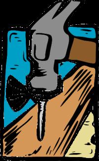 Drawing of hammer and nail