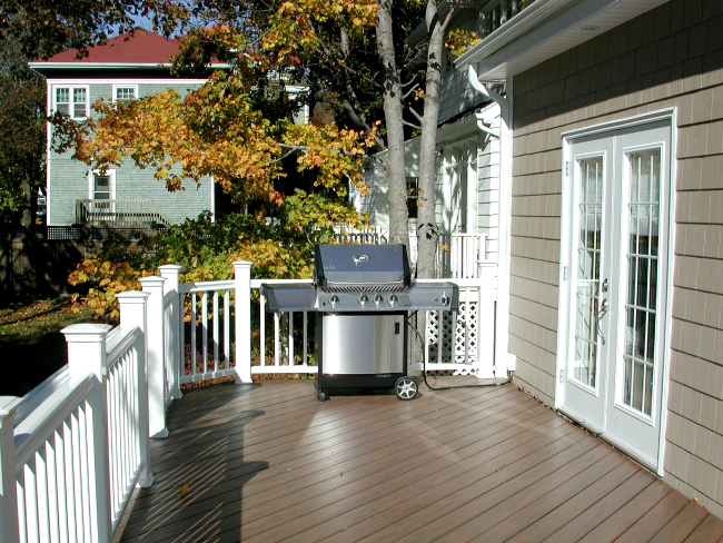Composite Deck Halifax Nova Scotia Railing White Grill