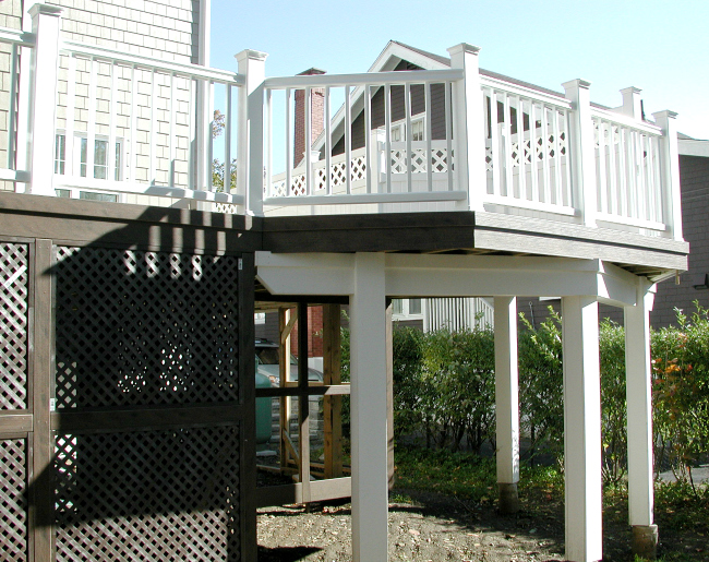 Composite Deck Halifax Nova Scotia Railing White
