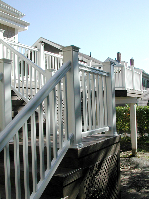 Composite Deck Halifax Nova Scotia White Railing Stairs