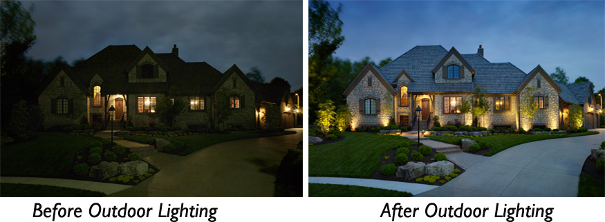 Before after charlotte outdoor lighting aloadofball Gallery