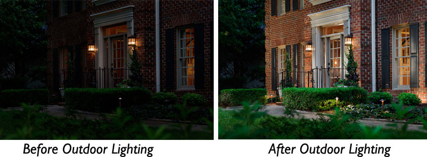 Before after charlotte outdoor lighting from dark to discovered aloadofball Gallery