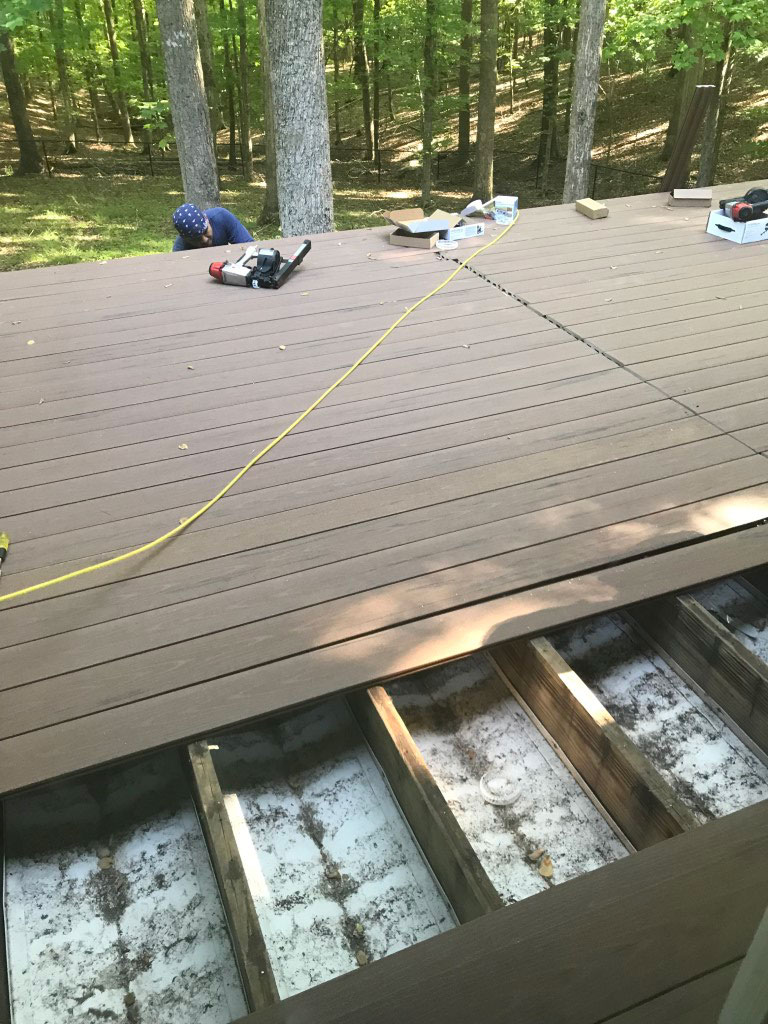 re-decking replace decking boards using existing substructure