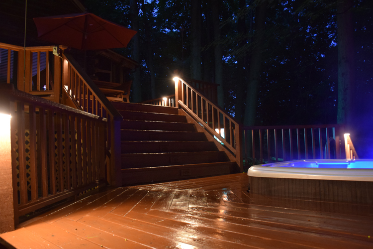 Louisville Hot Tub Stair Lighting