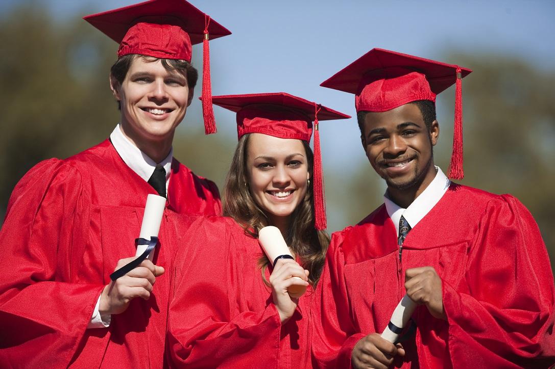 Graduates outside