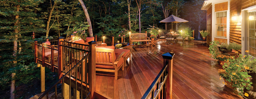 custom deck lighting
