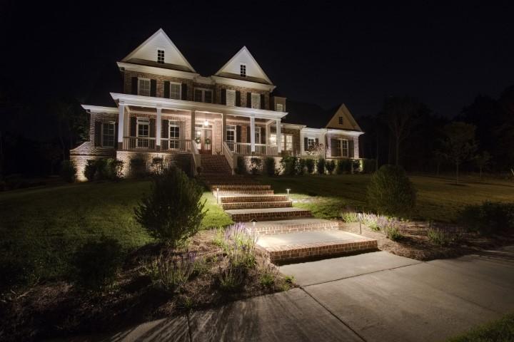 professional path lighting installation