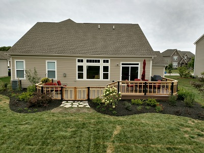 Delaware, OH, Patio Transformed From Dull To Dazzling With Deck Patio  Combination