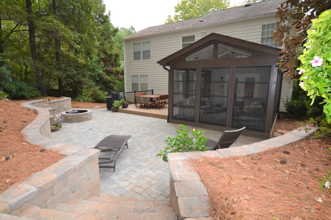 Cary backyard for entertaining