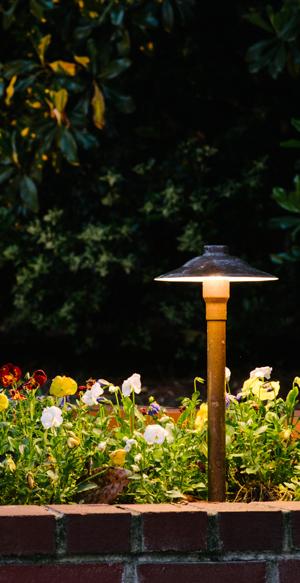 wilmington landscape lighting flowerbeds