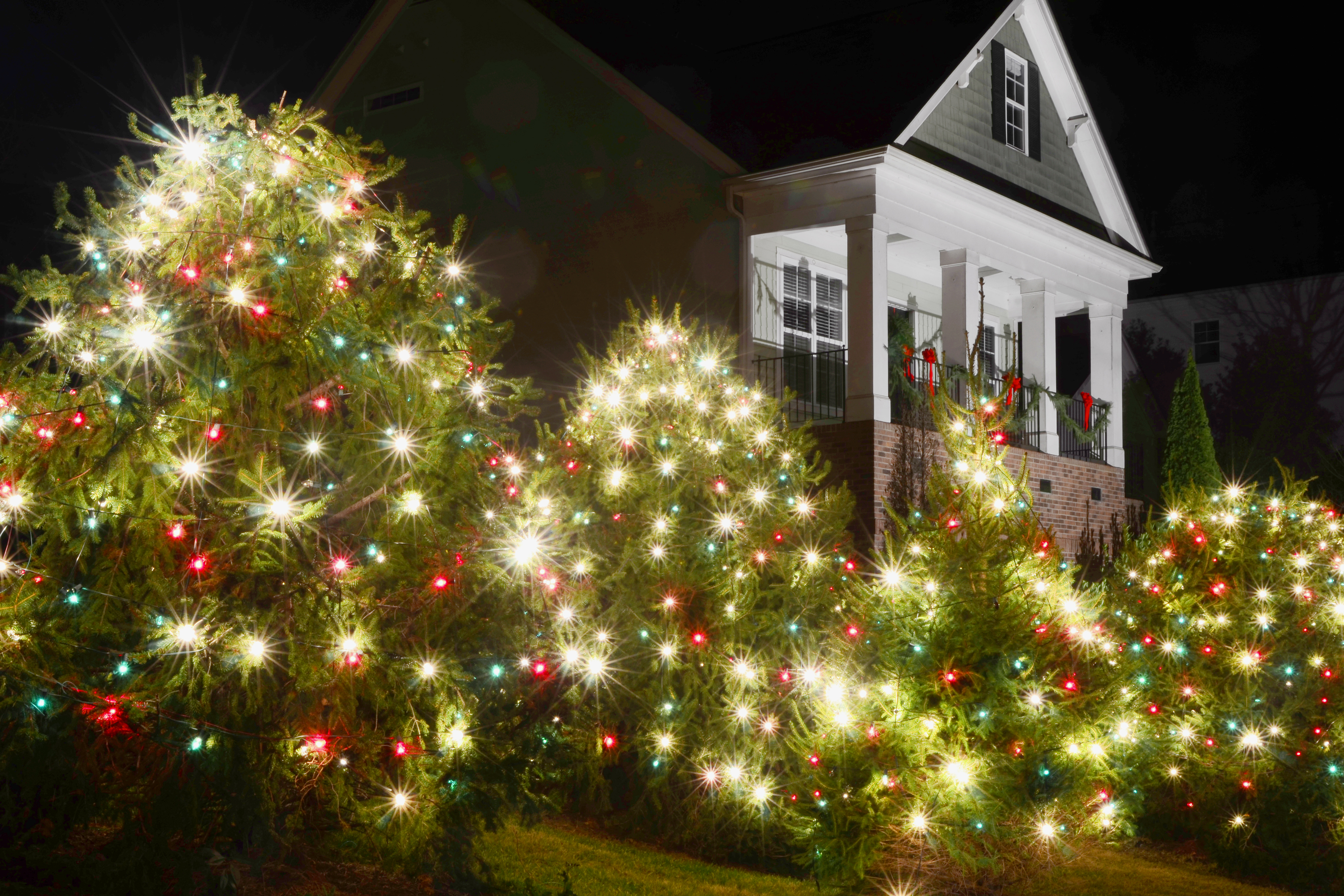 Holiday lighting for business let us handle your holiday needs we can add a festive spin to any holiday you can think of including hanukkah kwanza new years day halloween and even aloadofball Images