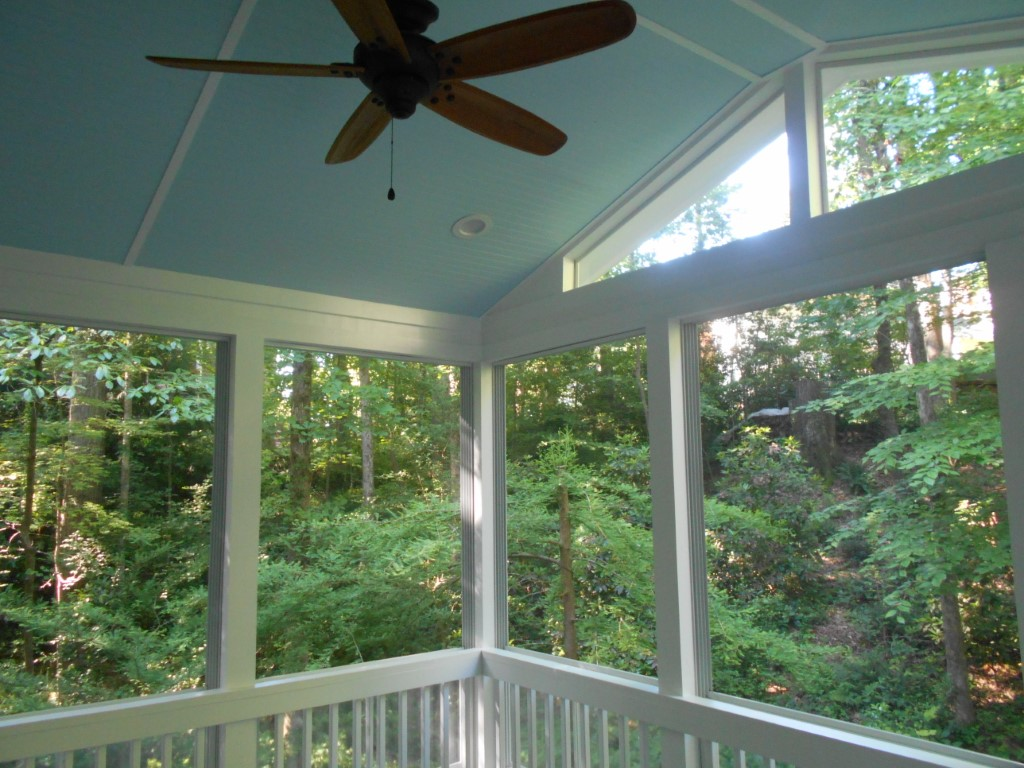 Classic Blue Ceiling In Southern Three Season Porch