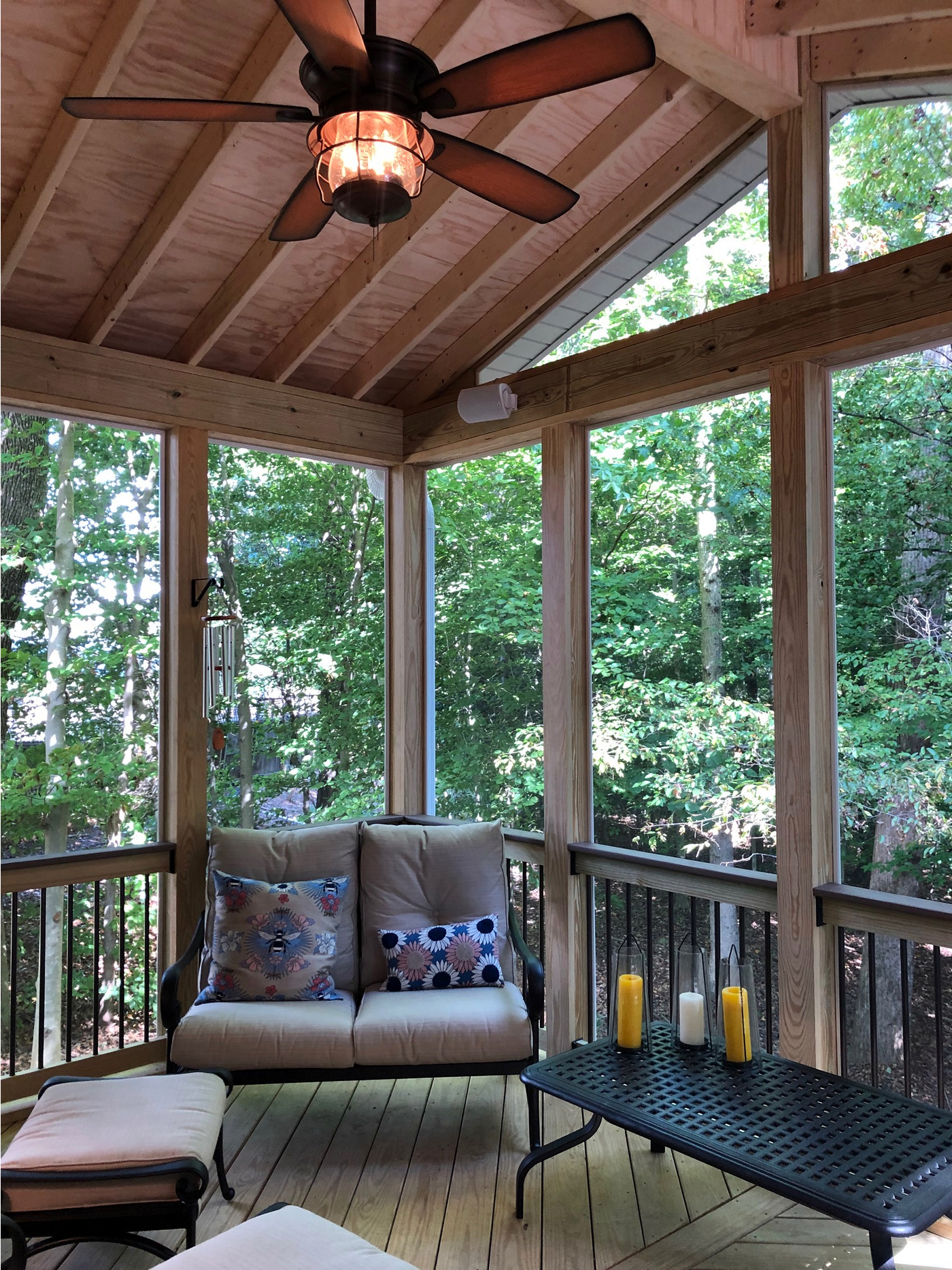 Greensboro screened porch