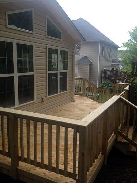 wood deck and sunroom Lewisville NC
