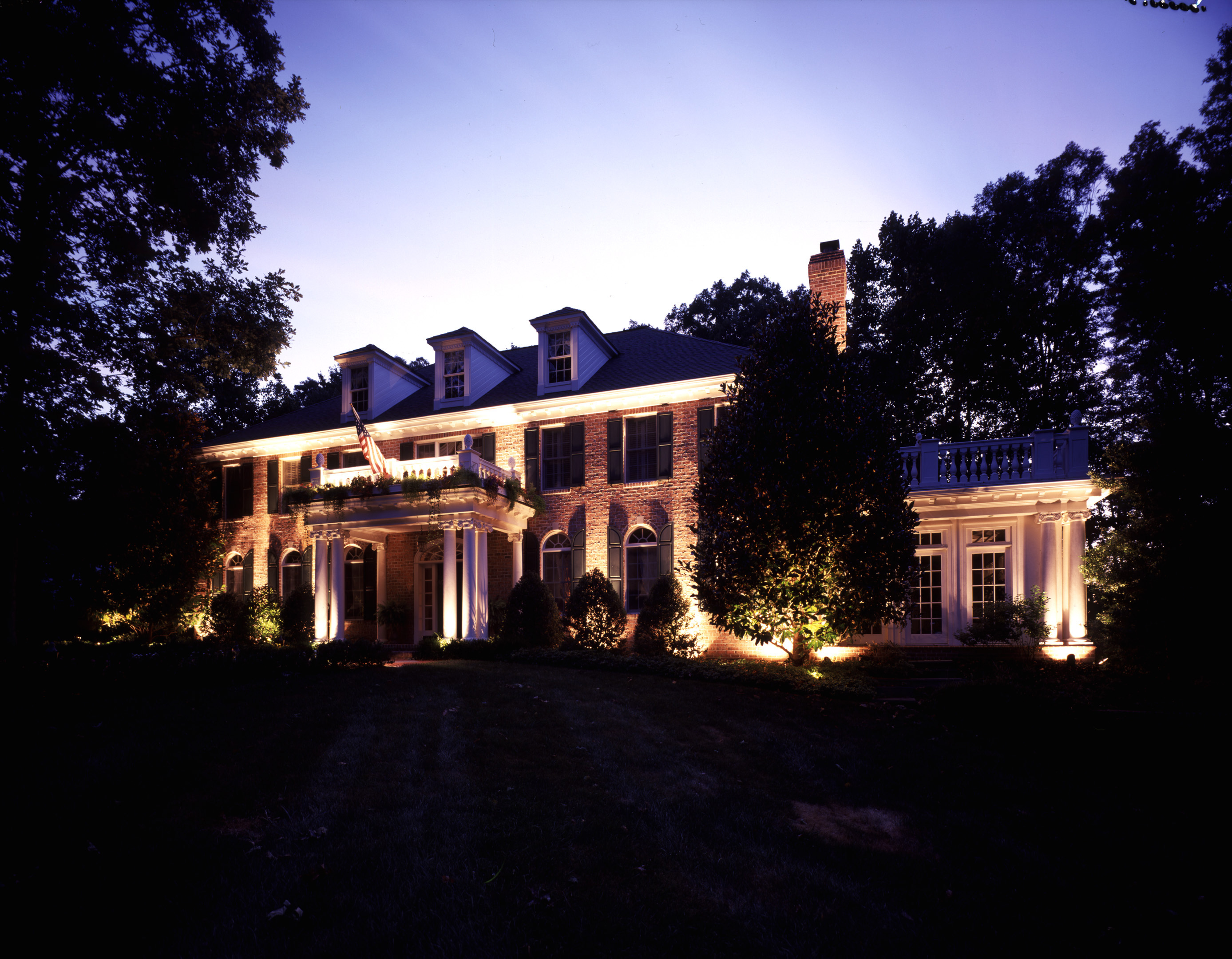 exterior house lighting design. Get to know your Baltimore outdoor lighting professionals  and Landscape Lighting in