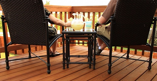 cleaned deck and stained deck Charlotte NC