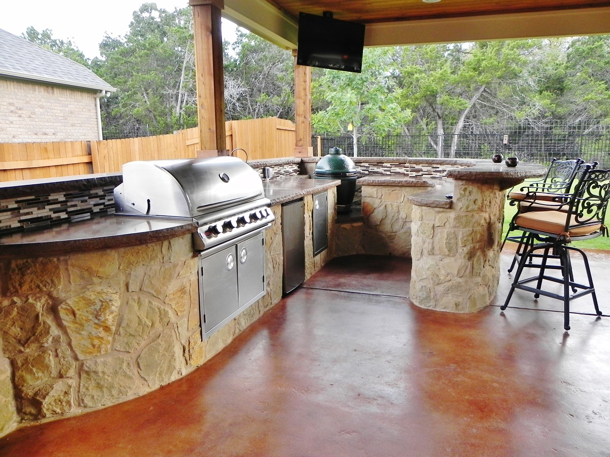 houston custom outdoor kitchens by archadeck of sw houston - Outdoor Kitchen Sink