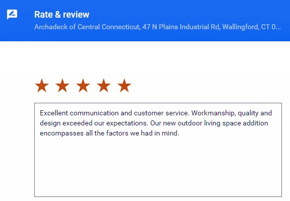 Archadeck Of Central Ct Customer Reviews Leave A Review For