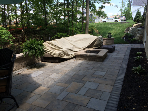 The Westerville, OH, Patio And Fire Pit Above Was Built Using Unilock  Beacon Hill Flagstone Pavers With A Charcoal Holland Stone Border Giving  Life To The ...