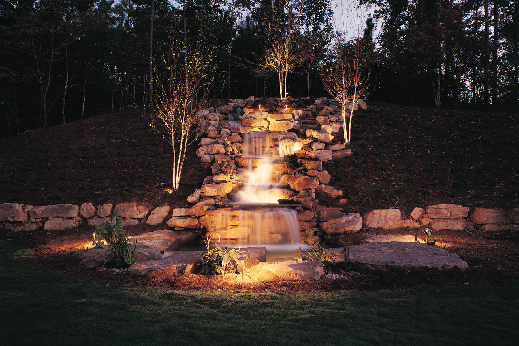 low voltage landscape lighting Richmond Charlottesville