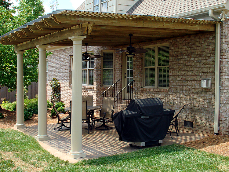 pergola covered patio design