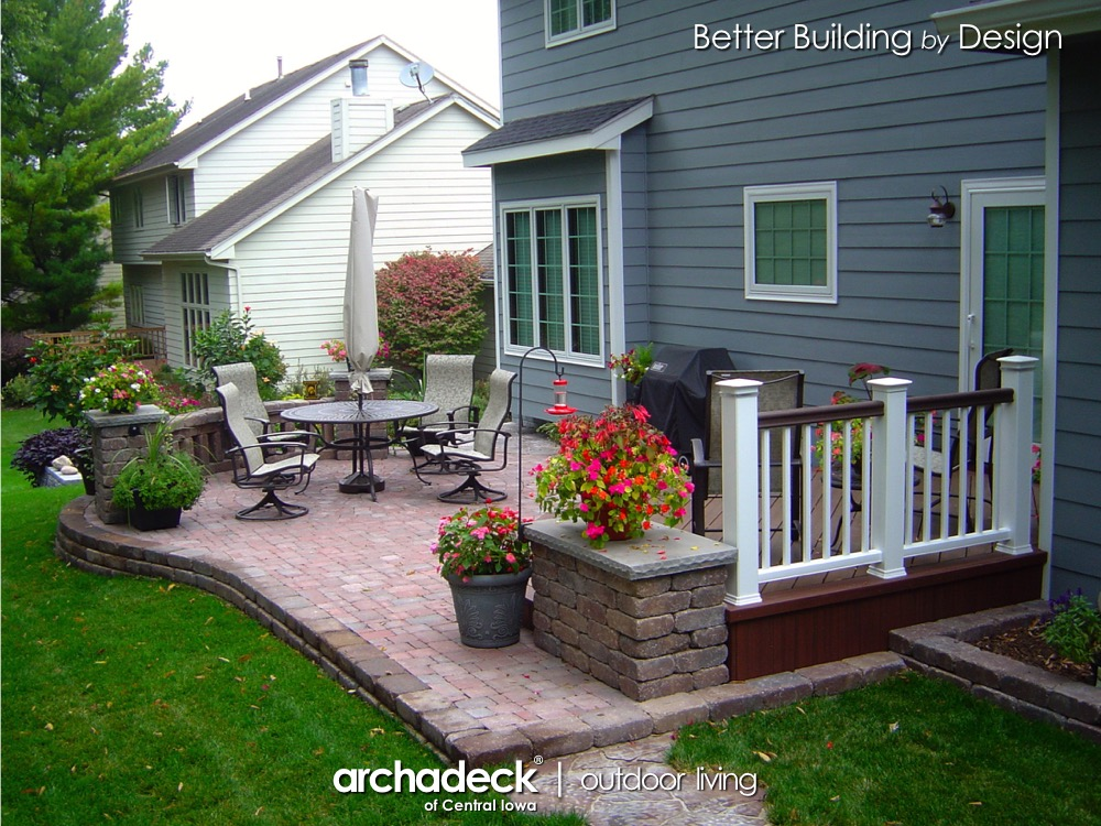 Belgard Patio and TimberTech Deck Project - Clive (Des Moines) Thumbnail