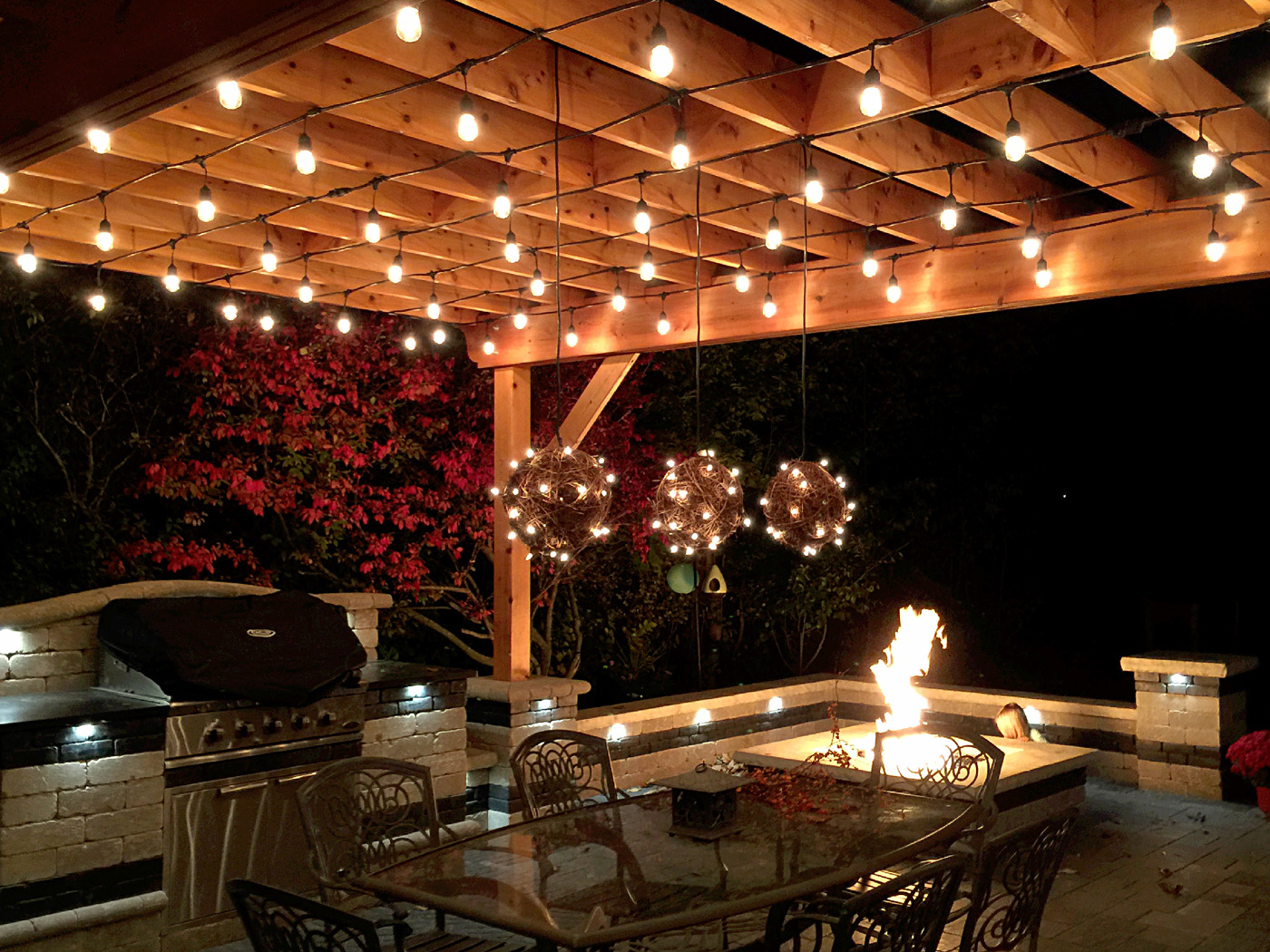 Greenville Outdoor Kitchen Lighting Is As Easy As One Two Three