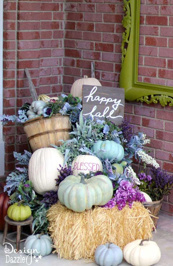 gorgeous modern autumn porch ideas