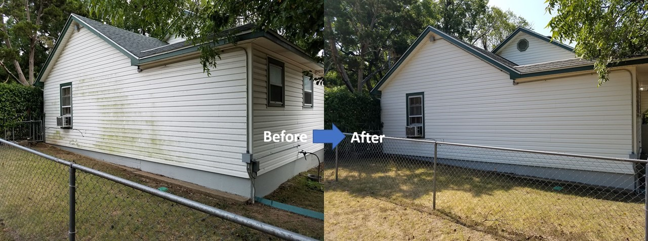 vinyl siding Cleaning and Protecting Before and After