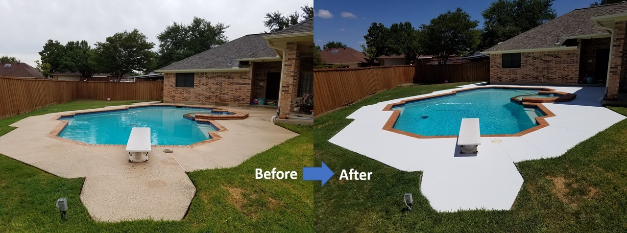 pool patio Cleaning and Protecting Before and After