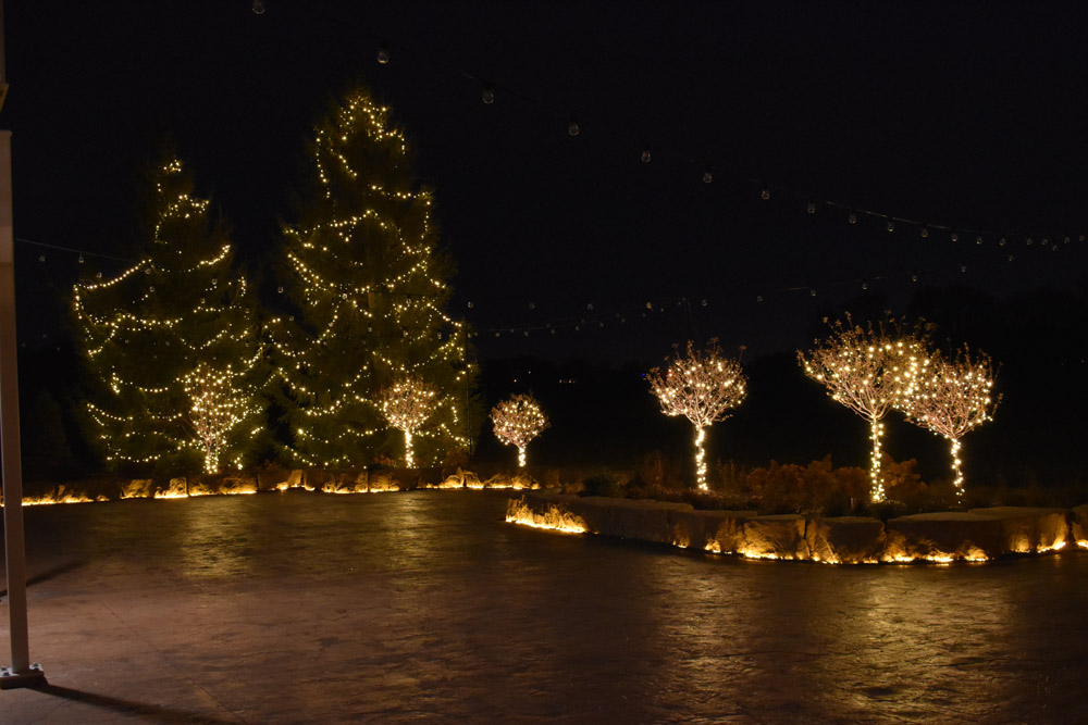 outdoor Christmas decor installation