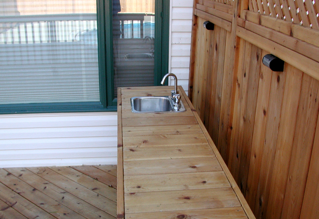 Outdoor Kitchen Sink Western Red Cedar Grill Halifax